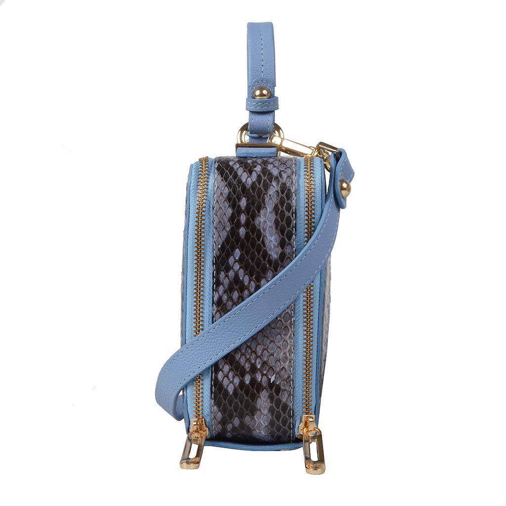 Bolsa box píton azul celeste V19 3
