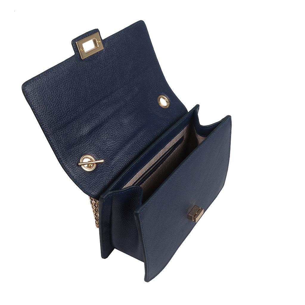 Bolsa Estruturada Azul com Alça Corrente 2