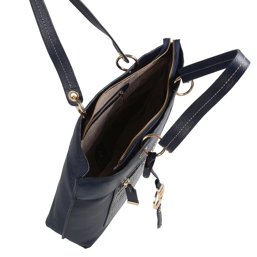 Bolsa sacola azul carbono I19 5