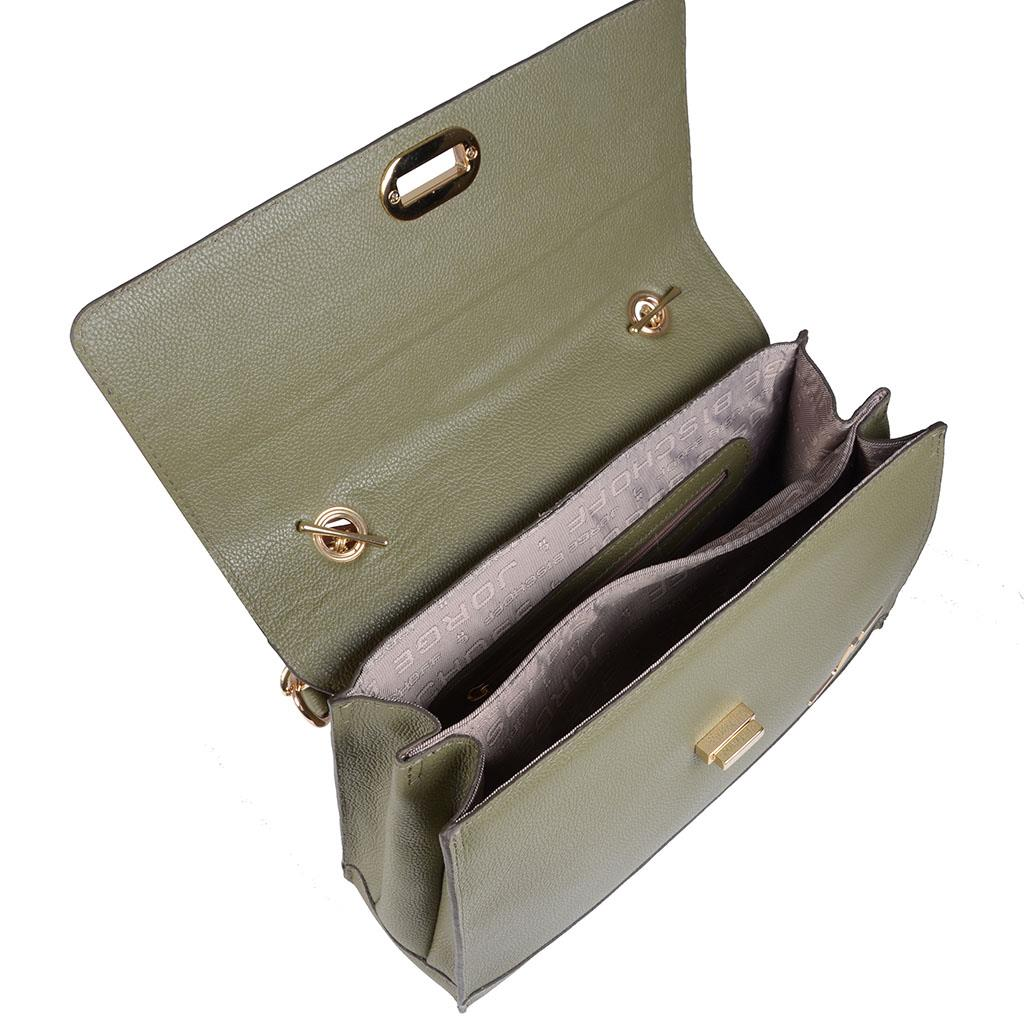 Bolsa estruturada verde militar I19 3