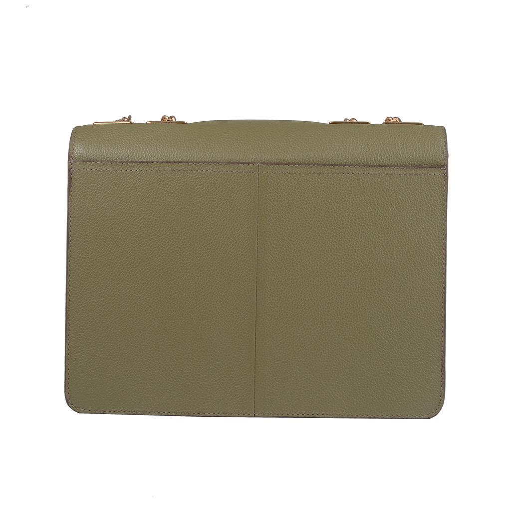 Bolsa tiracolo estruturada verde militar I19 4