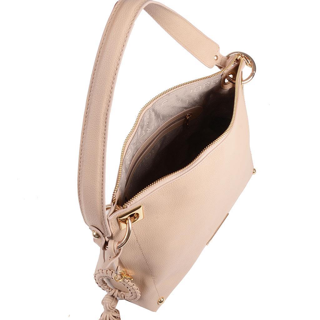 Bolsa estruturada com barbicacho blush I19 3