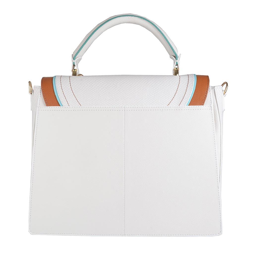 Bolsa Baú Branca com Bag Charm V20 4