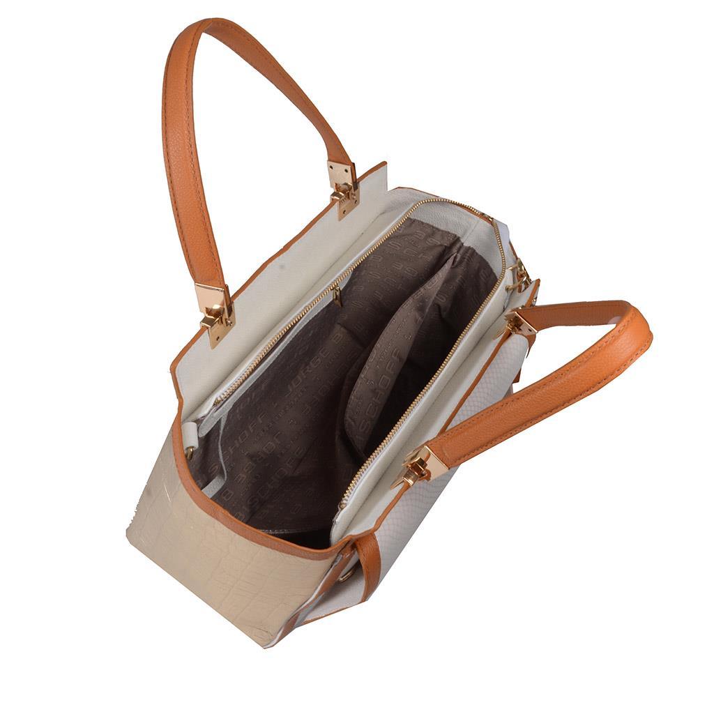 Bolsa Estruturada Couro com Bag Charm V20 5