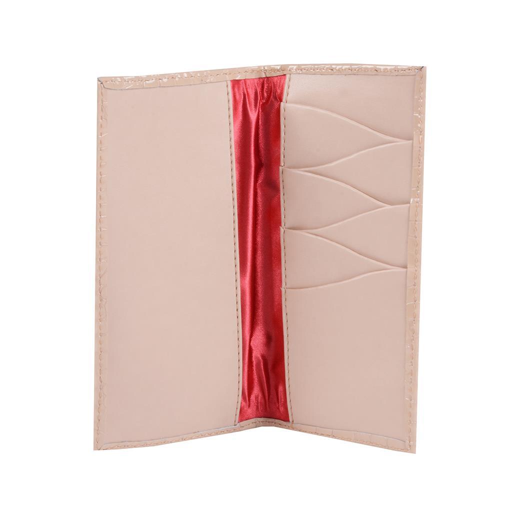 Carteira porta-cartões verniz blush I19 3