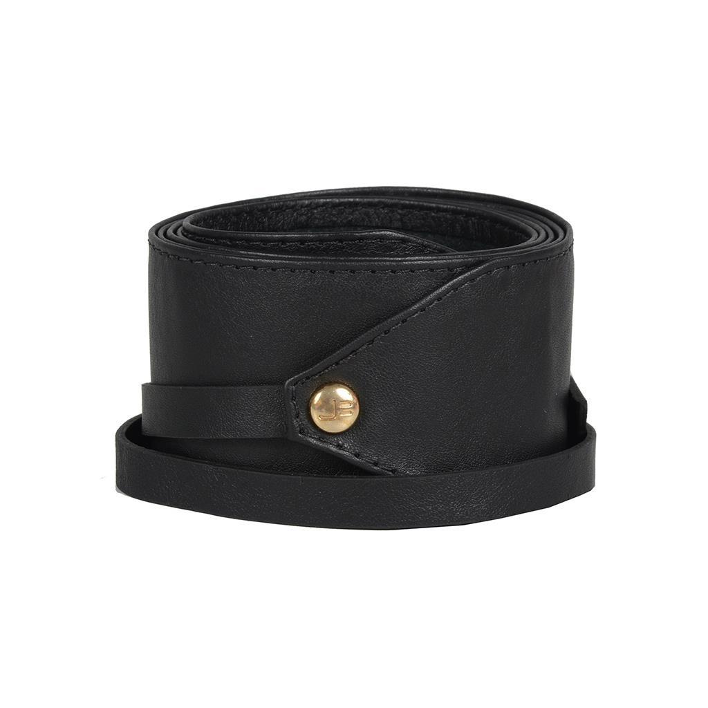 Cinto preto com amarração I19