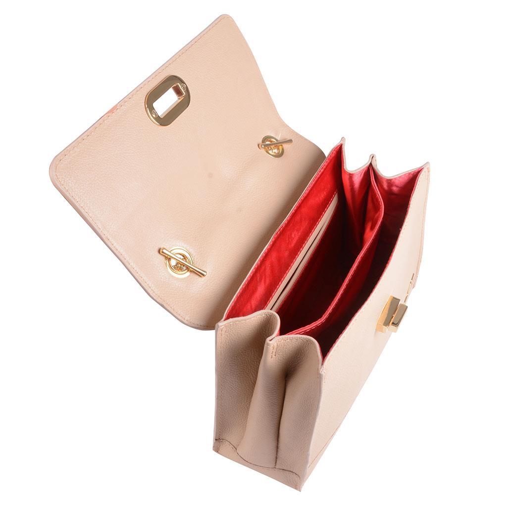 Clutch tiracolo estruturada blush I19 5