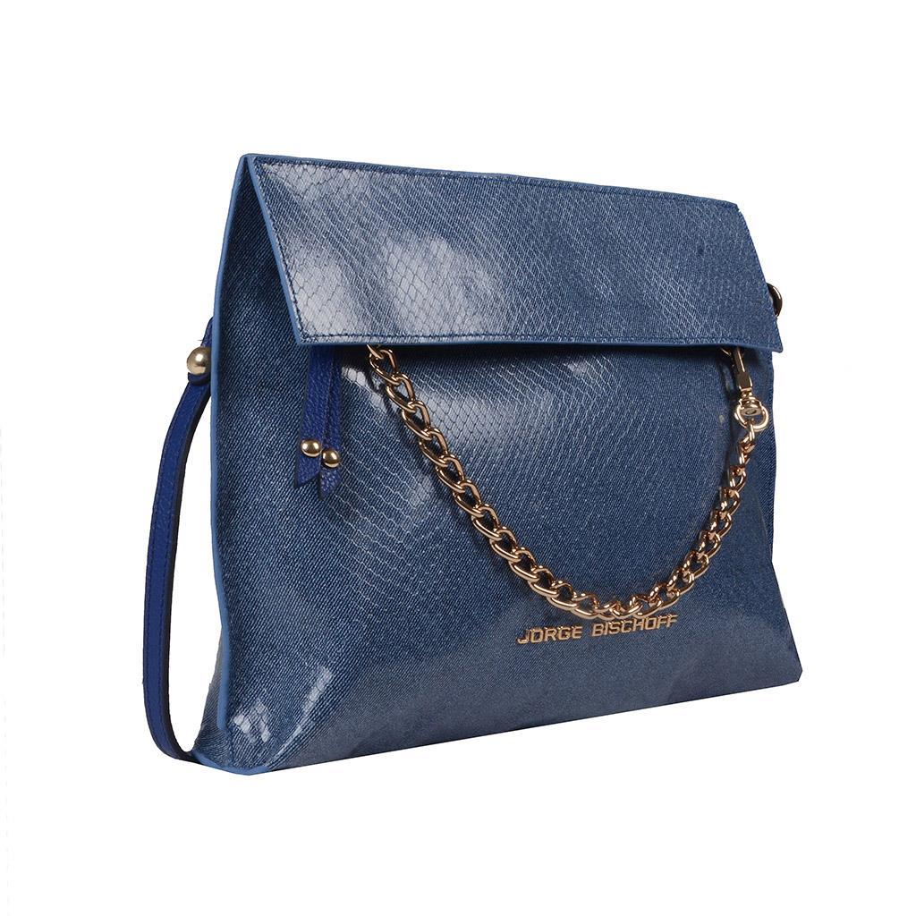 Clutch Couro Jeans Azul Náutico V20 2