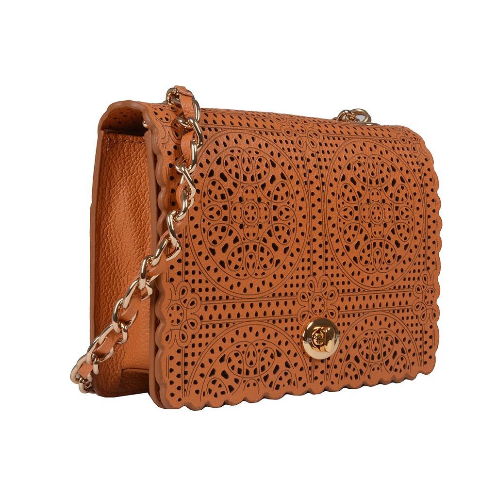 Clutch Couro Broderie Whisky V20 2