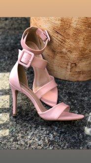 Imagem - sandália:sandália salto fino rose  cód: 946