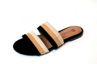 Imagem - Sandalia Rasteira Tricolor My Shoe cód: 000182