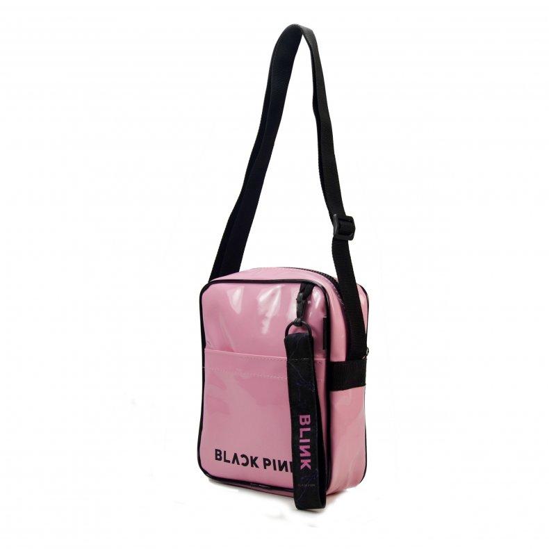 Bolsa transversal + Chaveiro BLACK PINK BLINK