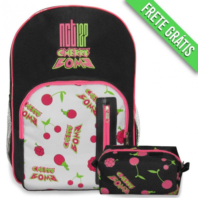 Conjunto Mochila + Estojo NCT127 - Cherry Bomb