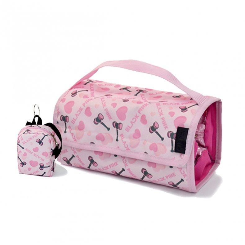 Necessaire/Estojo + Chaveiro Mochilinha Black Pink