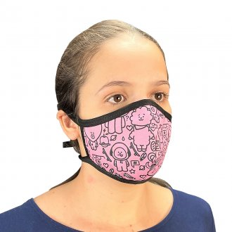 Imagem - Conjunto 4 máscaras com elástico kpop BTS / BT21 / Black Pink / Twice - 85982.144