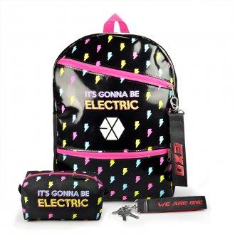 Imagem - Conjunto Mochila escolar + Estojo + Chaveiro EXO Electric Kiss - 85982.73