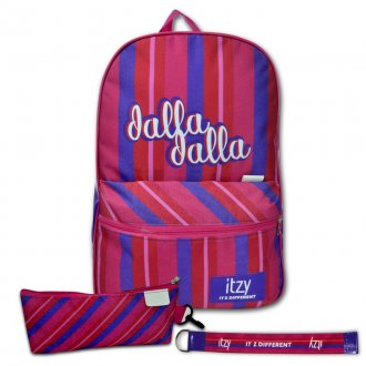 Imagem - Conjunto Mochila + Estojo + Chaveiro ITZY DALLA DALLA - 85982.165