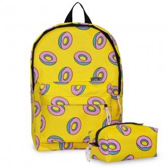 Imagem - Conjunto Mochila + Estojo Donuts Mark Tuan - 85974.15