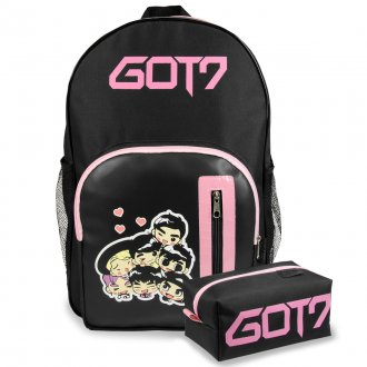 Conjunto Mochila + Estojo GOT7 - Cartoon