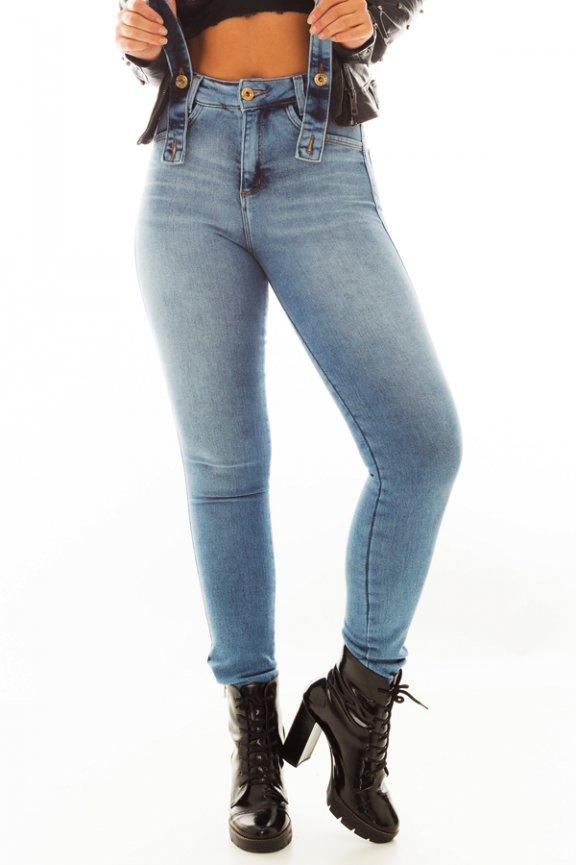 Calça Jeans Hot Pants com Suspensório