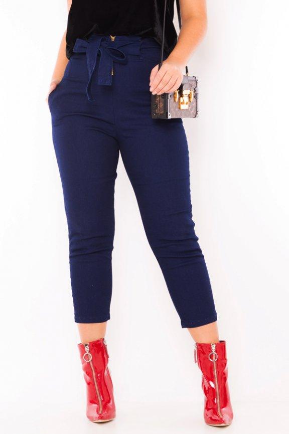 Calca Jeans Cropped com Amarração