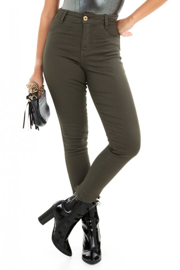 Calca Jeans Hot Pants Cropped
