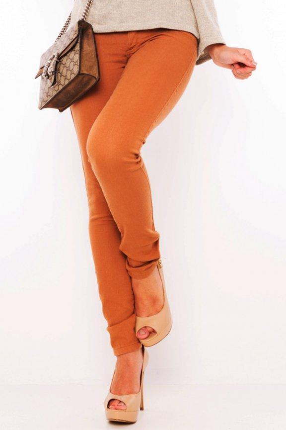 Calça Jeans  Skinny Caqui