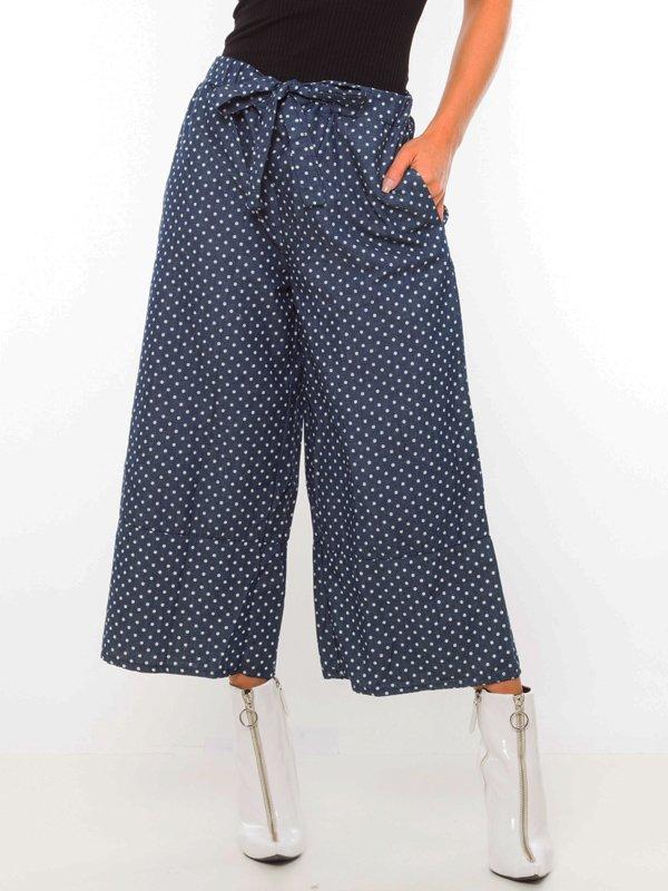 Calça Pantacourt Jeans de Poá