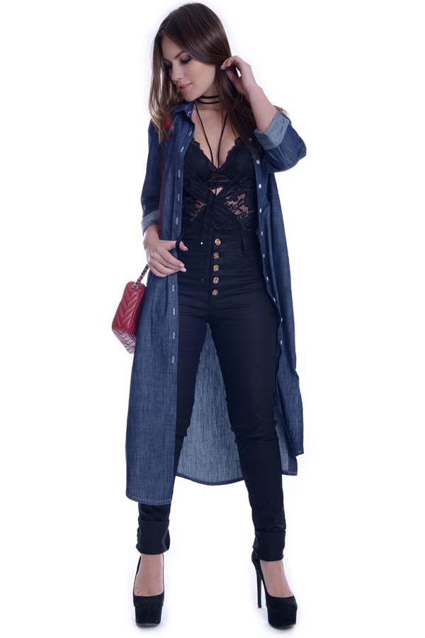 Maxi Camisete Jeans