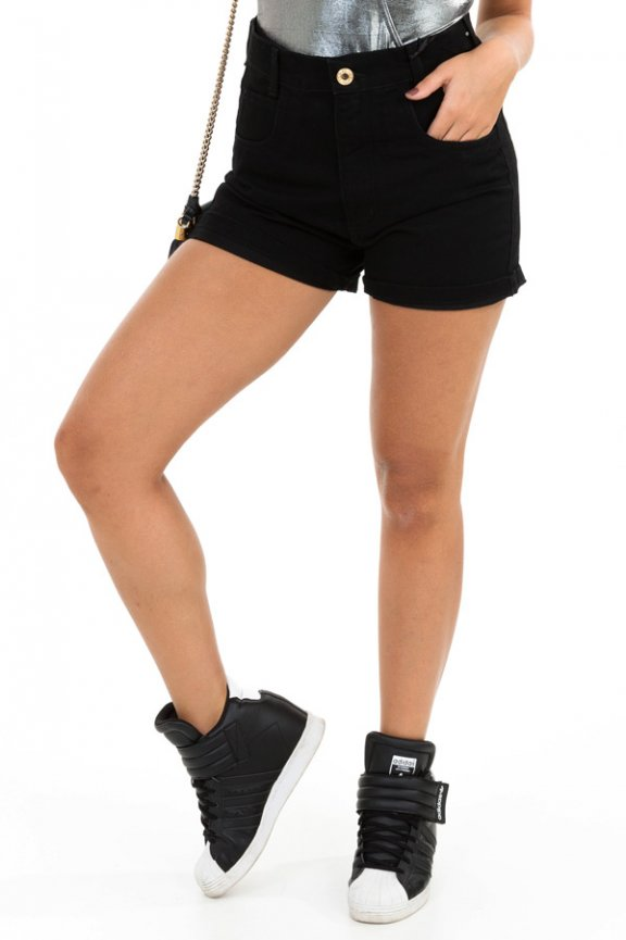 Shorts Hot Pants em Sarja