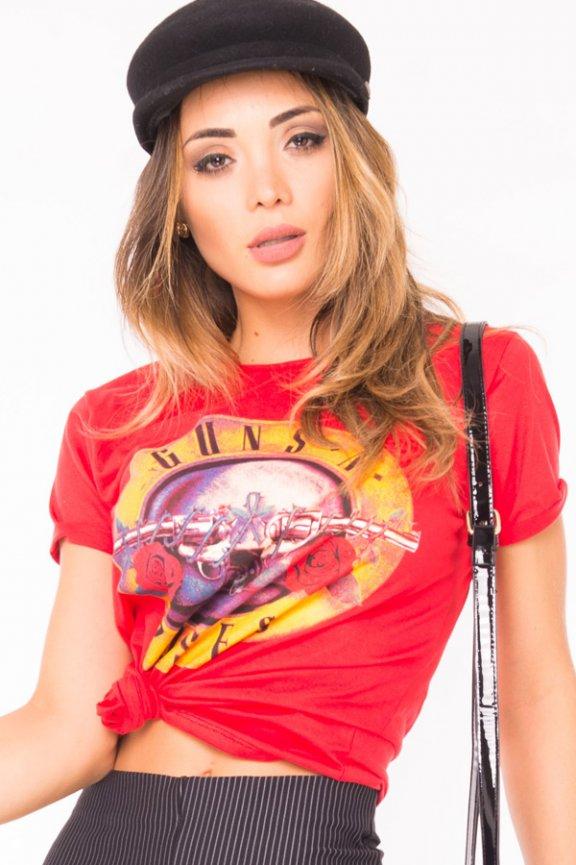 T-shirt com Estampa Frontal