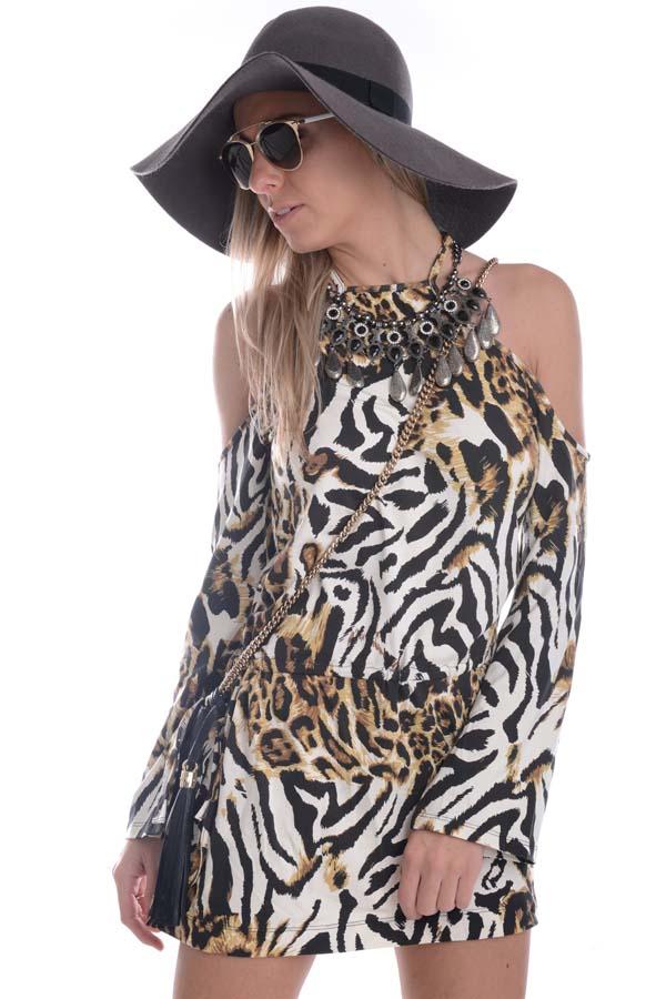 Vestido Animal Print Ciganinha
