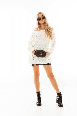 Imagem - Blusa de Tricô com Detalhes Vazados
