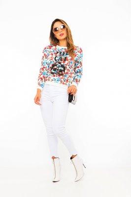 Imagem - Blusa Estampada Floral com Ilhós