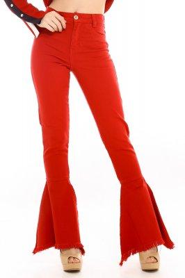 Imagem - Calça Flare Hot Pants com Barra Desfiada
