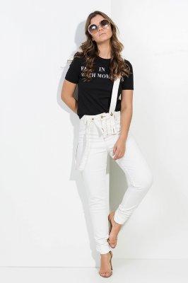 Imagem - Calca Jeans Skinny com Suspensório