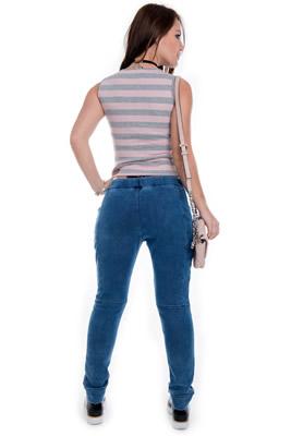 Imagem - Calça Jeans Feminina Jogger