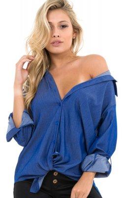 Imagem - Camisa Oversized com Barra Arredondada