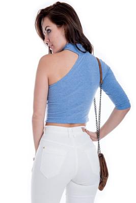 Imagem - Blusa Cropped Um Ombro Só