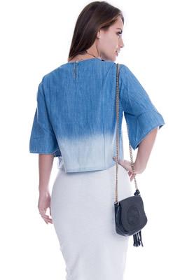 Imagem - Cropped Jeans Amplo