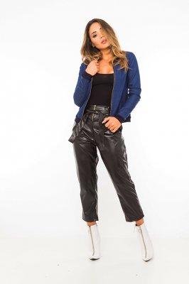 Imagem - Jaqueta Bomber Jeans com Estampa