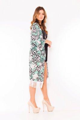 Imagem - Kimono Floral com Franjas