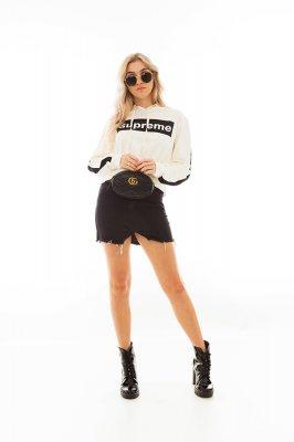Imagem - Mini Saia Jeans com Barra Assimétrica