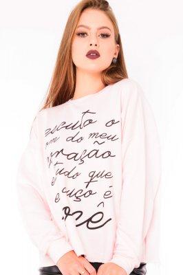 Imagem - Moletinho Oversized com Lettering Print