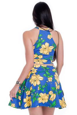 Imagem - Saia Godê Floral Curta
