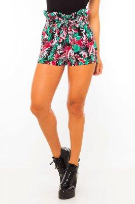 Imagem - Shorts Clochard Floral com Amarração