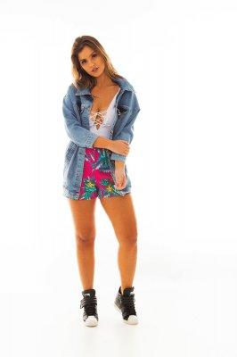 Imagem - Shorts em Tecido Estampa Floral