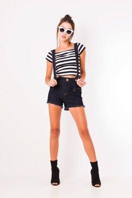 Imagem - Shorts Jeans Hot Pants com Suspensório