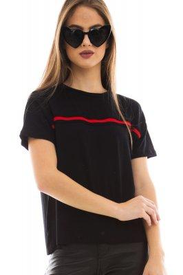 Imagem - T-shirt com Aplicação de Listras