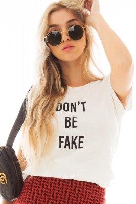 Imagem - T-shirt com Lettering Print